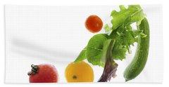 Fresh Vegetables Flying Hand Towel by Elena Elisseeva