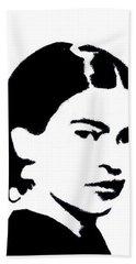 Frida Black And White Hand Towel