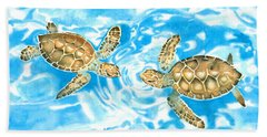 Friends Baby Sea Turtles Hand Towel