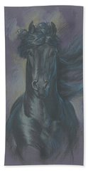 Friesian Horse Bath Towel
