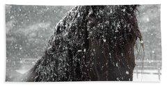 Friesian Snow Bath Towel