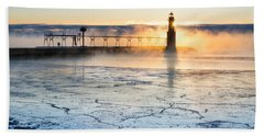 Frigid Sunrise Fog  Hand Towel