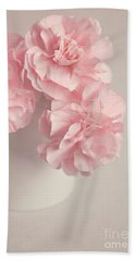 Frilly Pink Carnations Bath Towel
