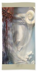 Bath Towel featuring the photograph Fringe Element - Pastel Abstract by Brooks Garten Hauschild