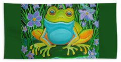 Frog On A Lily Pad Hand Towel