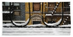 From My Fire Escape - Arches In The Snow Hand Towel