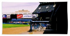 Bath Towel featuring the photograph From The Dugout  The Yankee Stadium by Iconic Images Art Gallery David Pucciarelli