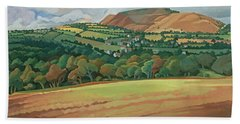 From The Train South Devon, No.2 Oil On Canvas Hand Towel