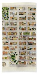 From Union Square To Madison Square Hand Towel by AFineLyne