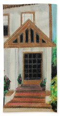 Bath Towel featuring the painting Front Door 1 by Jeanne Fischer