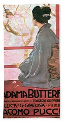Frontispiece Of The Score Sheet For Madame Butterfly By Giacomo Puccini 1858-1924 Colour Litho See Hand Towel