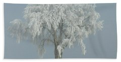 Frost Covered Lone Tree Bath Towel