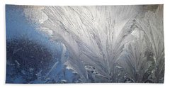 Frost Ferns Hand Towel by Joy Nichols