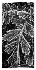 Frosty Plants  Hand Towel