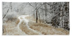 Bath Towel featuring the photograph Frosty Trail 2 by Penny Meyers