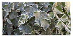 Bath Towel featuring the painting Frozen Hedera Helix 2 by Felicia Tica