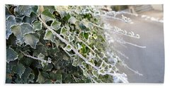 Bath Towel featuring the painting Frozen Hedera Helix by Felicia Tica