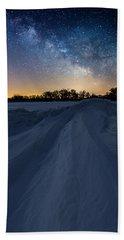 Frozen Lake Minnewaska Milky Way Bath Towel
