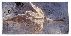 Bath Towel featuring the photograph Frozen Leaf by Richard Bryce and Family