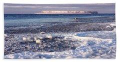 Frozen Shore Bath Towel