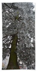 Bath Towel featuring the photograph Frozen Tree 2 by Felicia Tica
