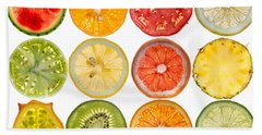 Fruit Market Hand Towel by Steve Gadomski