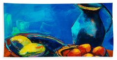Bath Towel featuring the painting Fruit Palette by Elise Palmigiani