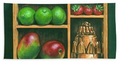 Fruit Shelf Hand Towel by Brian James