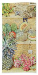 Fruit-stall, La Laguinilla, 1998 Oil On Canvas Detail Of 240164 Hand Towel