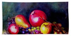 Bath Towel featuring the painting Fruitfulness by Hazel Holland