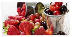 Fruits And Berries Hand Towel by Elena Elisseeva