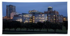 Ft. Worth Texas Skyline Bath Towel