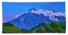 Fuego Volcano Guatamala Bath Towel