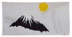 Fuji Through The Cloudy Mist Bath Towel by Pg Reproductions