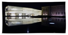 Full Moon Over Nelson Atkins Museum In Kansas City Hand Towel