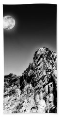 Full Moon Over The Suicide Rock Hand Towel