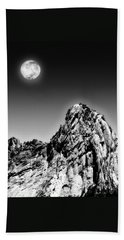 Full Moon Over The Suicide Rock Bath Towel