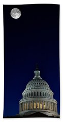 Full Moon Over Us Capitol Hand Towel