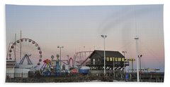 Fun At The Shore Seaside Park New Jersey Hand Towel