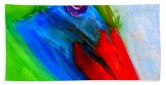 Funky Colorful Pelican Art Prints Bath Towel