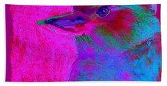 Funky Kookaburra Australian Bird Art Prints Bath Towel