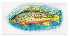 Funky Trout Hand Towel