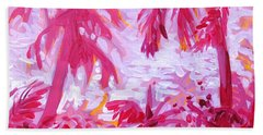 Bath Towel featuring the painting Fuschia Landscape by Tilly Strauss