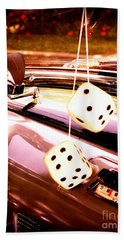 Fuzzy Dice Hand Towel by Valerie Reeves