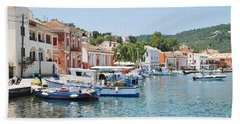 Gaios Harbour On Paxos Hand Towel