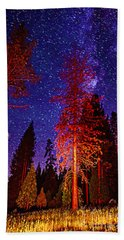 Hand Towel featuring the photograph Galaxy Stars By The Campfire by Jerry Cowart