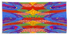 Galaxy Transit Union Ufo Docking Station Fantasy 2050 Art Background Designs  And Color Tones N Colo Bath Towel