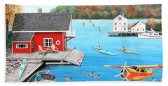 Galloping Goose Lake Bath Towel