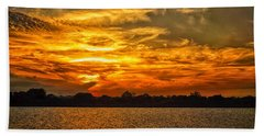 Galveston Island Sunset Dsc02805 Hand Towel by Greg Kluempers
