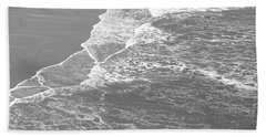 Galveston Tide In Grayscale Hand Towel